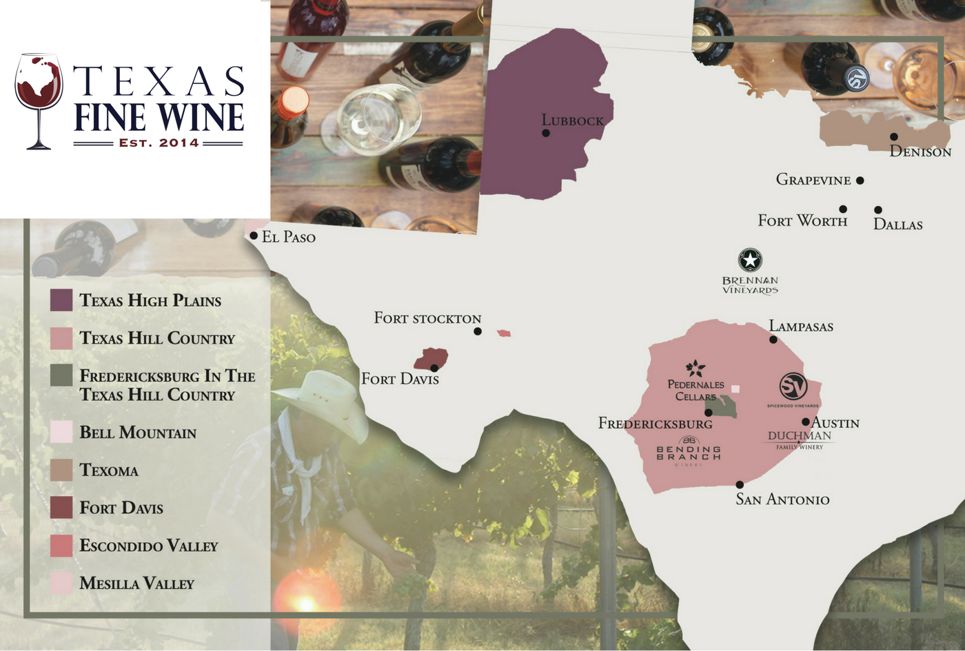 Map Of Texas Wineries.About Texas Fine Wine
